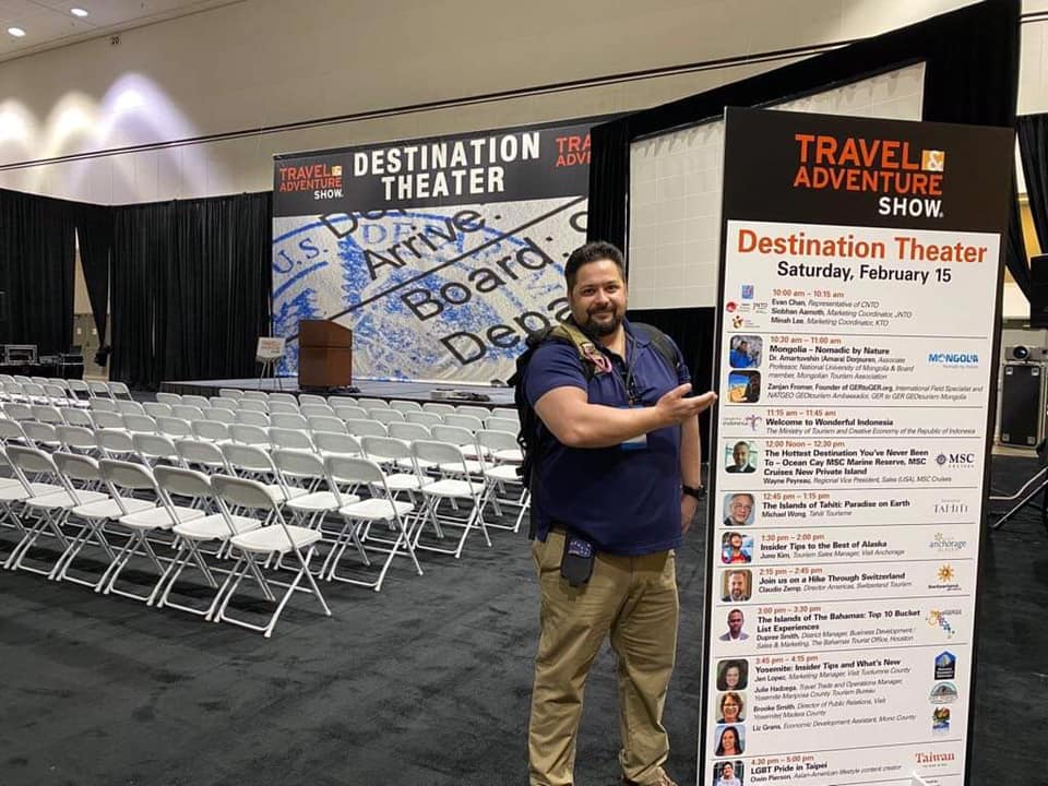 ZANJAN FROMER GUEST SPEAKER AT LA TRAVEL AND ADVENTURE SHOW 2020