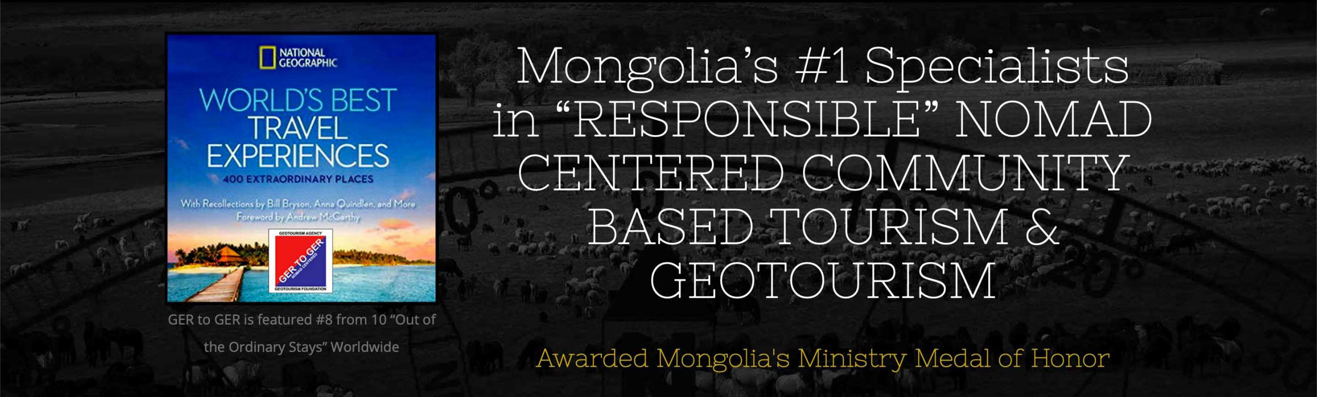 GER to GER GEOtourism Mongolia